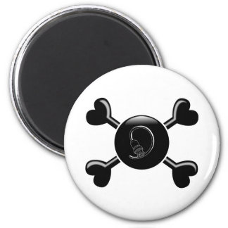 Crossbones Cable 2 Inch Round Magnet