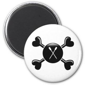 Crossbones Canoeing 2 Inch Round Magnet