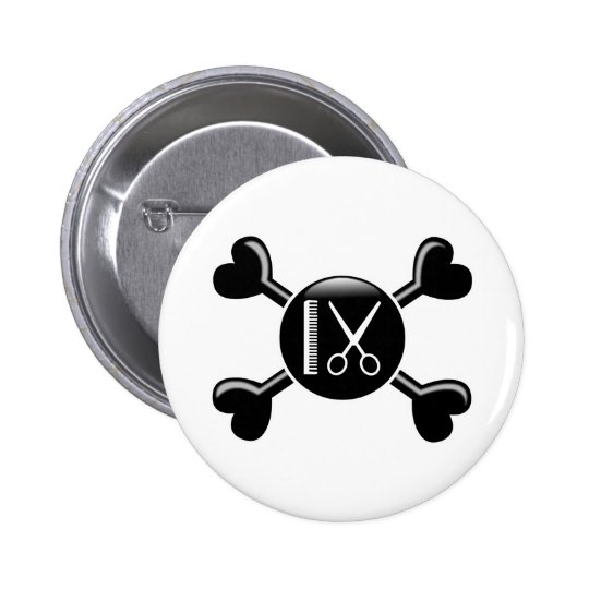 Crossbones Cosmetology Button