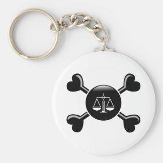 Crossbones Criminal Justice Keychain