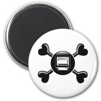 Crossbones Desktop Publishing Magnet