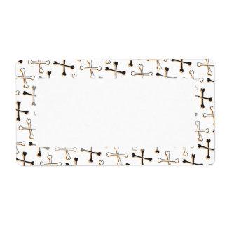 Crossbones Pattern Label