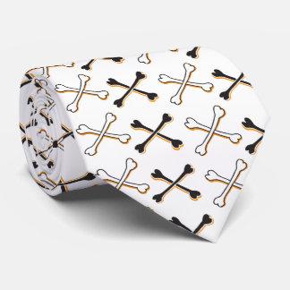 Crossbones Pattern Neck Tie