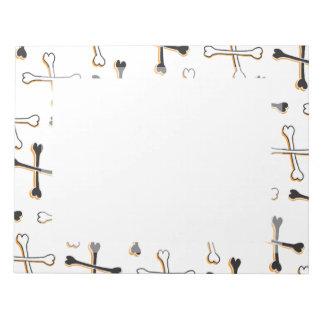 Crossbones Pattern Notepad