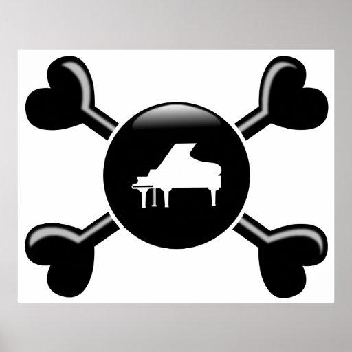 Crossbones Piano Poster