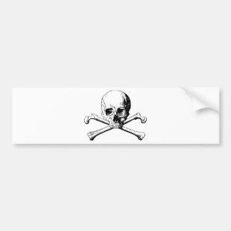 Crossbones skull bumper sticker