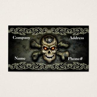 Crossbones Skull Business Card