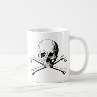Crossbones skull coffee mug