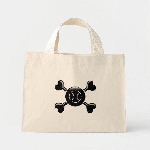 Crossbones Softball Mini Tote Bag