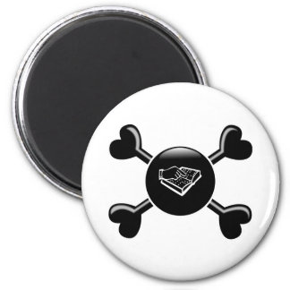 Crossbones Teaching the Visually Impaired 2 Inch Round Magnet