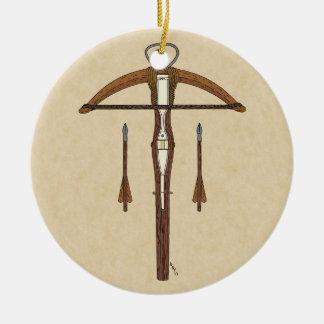 Crossbow Ceramic Ornament