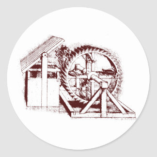 crossbow-treadmill classic round sticker