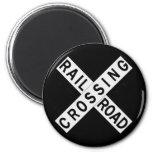 Crossbuck 2 Inch Round Magnet