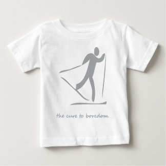 Crosscountry skiing.....the cure to boredom baby T-Shirt