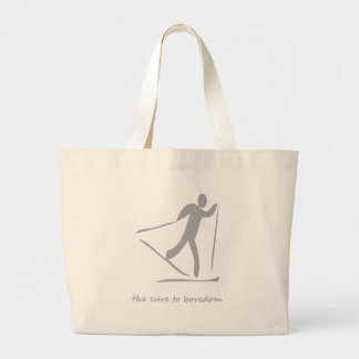 Crosscountry skiing.....the cure to boredom tote bag