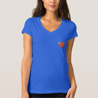 Crossed Anchor Back Bella V-Neck T-Shirt