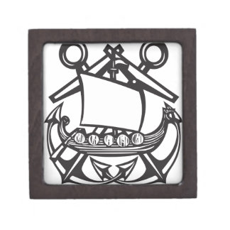 Crossed Anchor Viking Gift Box