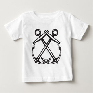 Crossed Anchors Baby T-Shirt