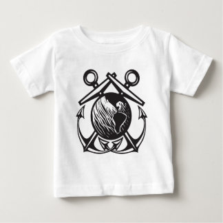 Crossed Anchors Earth Baby T-Shirt