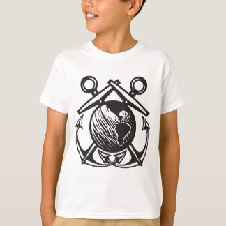 Crossed Anchors Earth T-Shirt