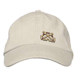 Crossed Anchors Nautical Star Embroidery Embroidered Baseball Hat