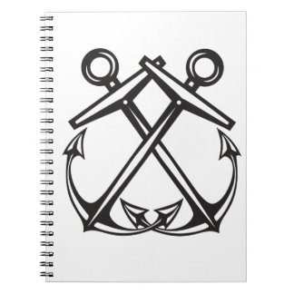 Crossed Anchors Notebook