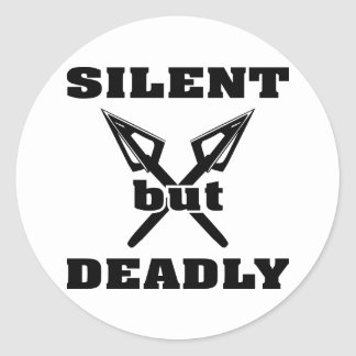 Crossed Arrows Silent But Deadly 5 Classic Round Sticker