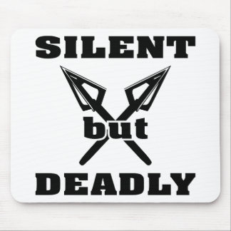 Crossed Arrows Silent But Deadly 5 Mouse Pad