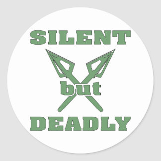 Crossed Arrows Silent But Deadly 6 Classic Round Sticker