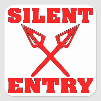 Crossed Arrows Silent Entry Square Sticker