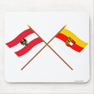 Crossed Austria and Kärnten flags Mouse Pad