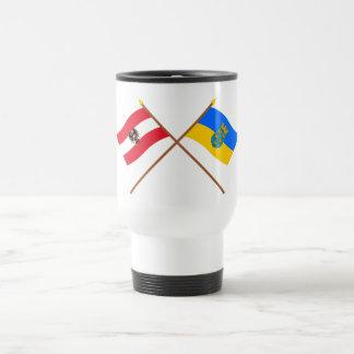 Crossed Austria and Niederösterreich flags Coffee Mug