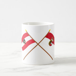 Crossed Austria and Salzburg flags Coffee Mug