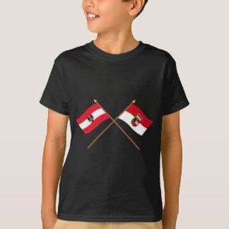 Crossed Austria and Salzburg flags T-Shirt