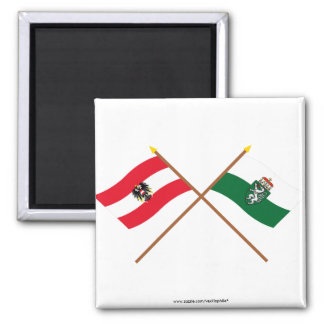 Crossed Austria and Steiermark flags Magnet