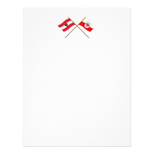 Crossed Austria and Tirol flags Letterhead Template