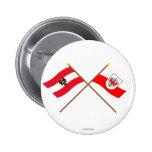 Crossed Austria and Tirol flags Pin