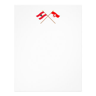 Crossed Austria and Wien flags Letterhead Template
