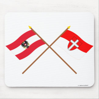 Crossed Austria and Wien flags Mouse Pad