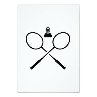 Crossed badminton rackets custom announcements