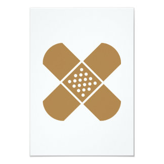 Crossed band-aids 3.5x5 paper invitation card