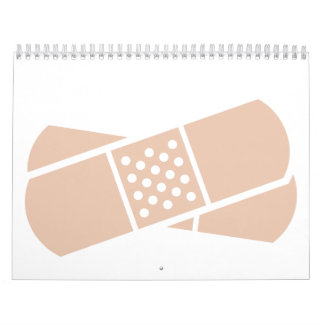 Crossed band-aids calendars