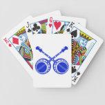 crossed banjos blue bicycle playing cards