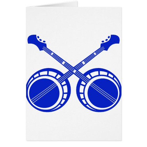crossed banjos blue card