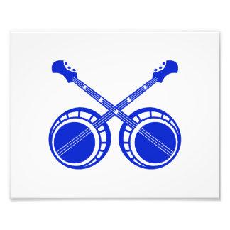 crossed banjos blue photo