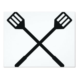 crossed barbecue cutlery icon announcement