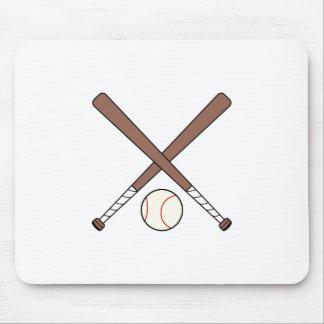 CROSSED BASEBALL BATS AND BA MOUSE PAD