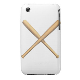 Crossed Baseball Bats iPhone 3 Case-Mate Case
