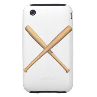 Crossed Baseball Bats iPhone 3 Tough Case