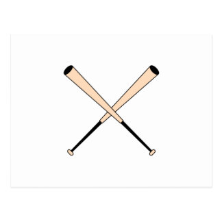 Crossed Baseball Bats Postcard